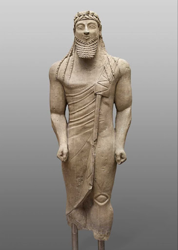 Votive statue of a man