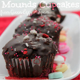 Mounds Valentine's Day Cupcake Filling & Frosting.