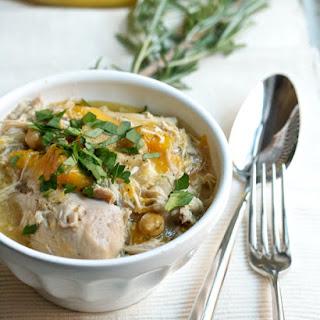 Chicken and Butternut Squash Stew with Chickpeas