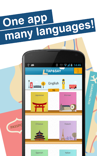 Tap Say - 海外旅行編 外国語の慣用句