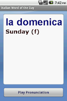Screenshot of Italian Word of the Day