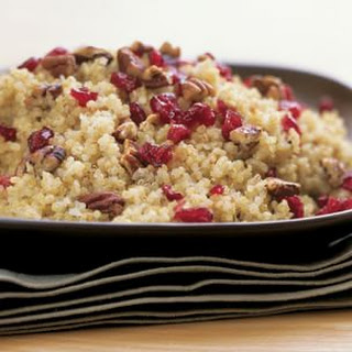 Quinoa with Dried Cranberries and Toasted Pecans.