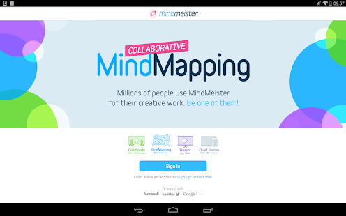 MindMeister (mind mapping)- screenshot thumbnail