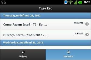 Screenshot of Tuga Rec