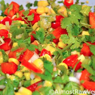 Corn Cilantro Red Pepper Salad