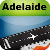 Adelaide Airport+Flight Track