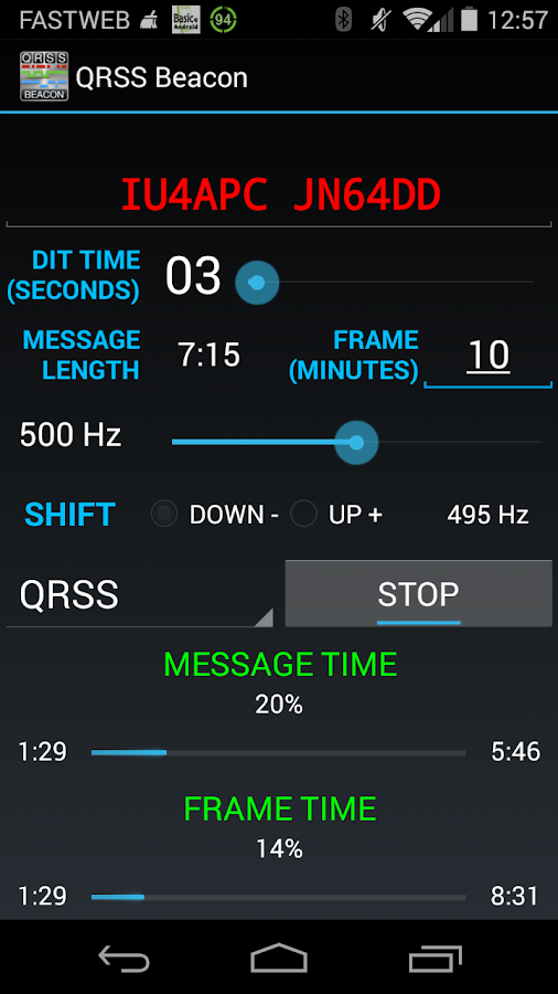 QRSS Beacon for Ham Radio- screenshot