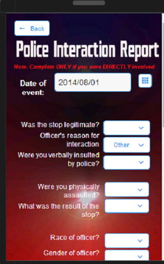 Five-O Police Rating App 1.2 - screenshot