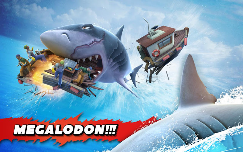 Hungry Shark Evolution APK+DATA v3.3.2 MOD (Unlimited Money + Gems) - screenshot