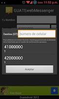 Screenshot of GUATEwebMessenger - Free SMS