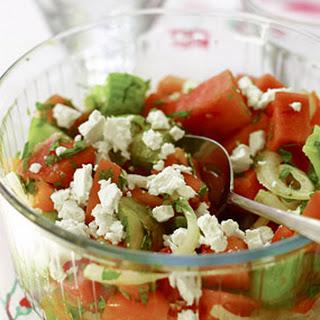 Watermelon, Tomato and Mint Salad