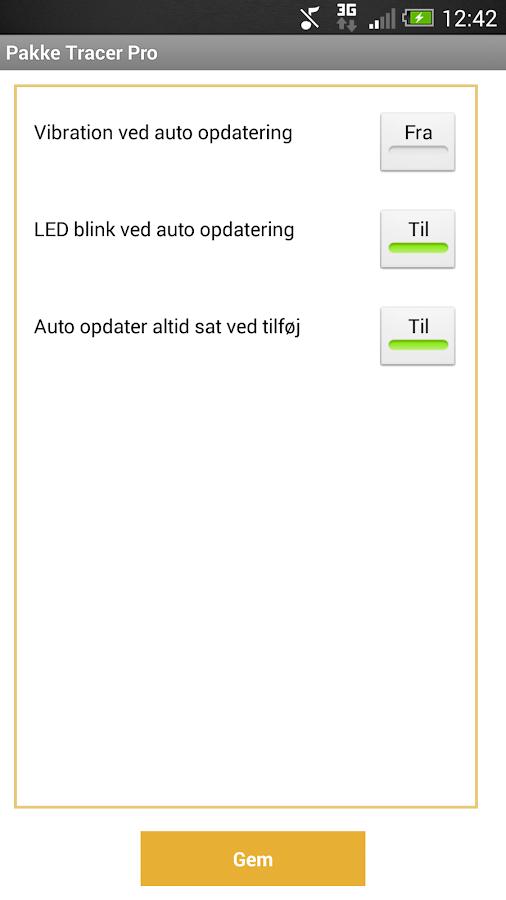 Pakke Tracer Pro- screenshot