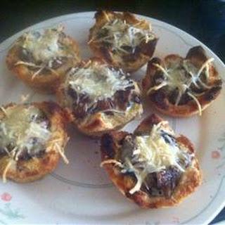 Garlicky Mushroom Toast Cups