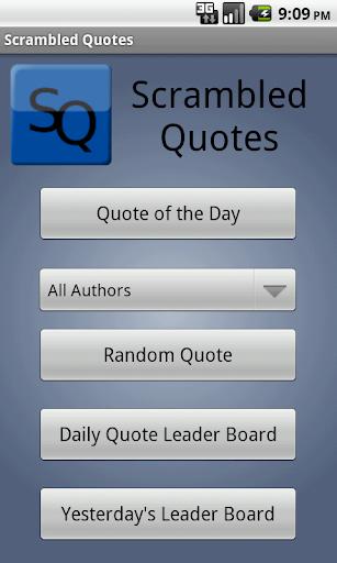 Scrambled Quotes