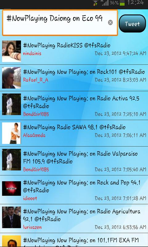 tfsRadio Indonesia - screenshot