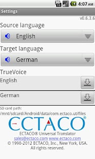 Ectaco Universal Translator - screenshot thumbnail