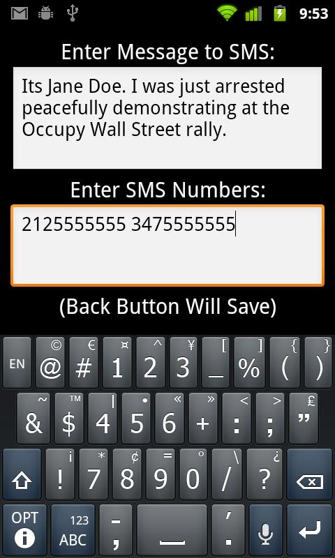 I'm Getting Arrested - OWS- screenshot