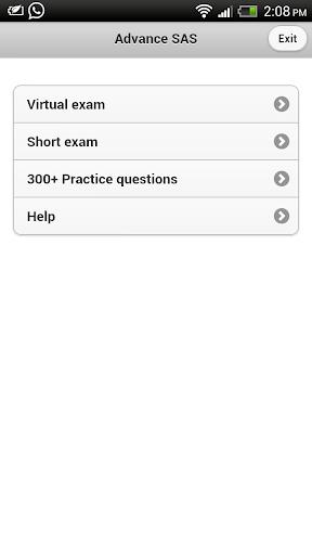 Advance SAS Practice Exam Pro
