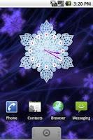 Screenshot of Crystal Snow Clock