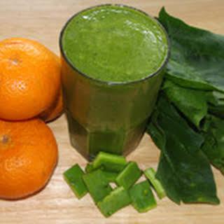 Tangerine Nopal Green Juice.