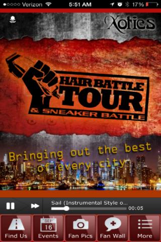 Hair Battle Tour Mobile App