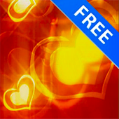 3D Valentine Golden Heart Free