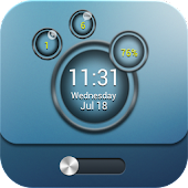 Bubble MagicLocker theme