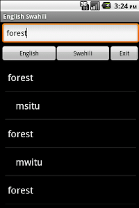English Swahili Dictionary screenshot 1