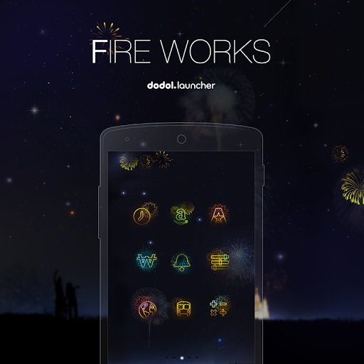 【免費個人化App】Fire Works Dodol Theme-APP點子