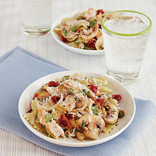 Farfalle with Chicken and Sun-Dried Tomatoes.