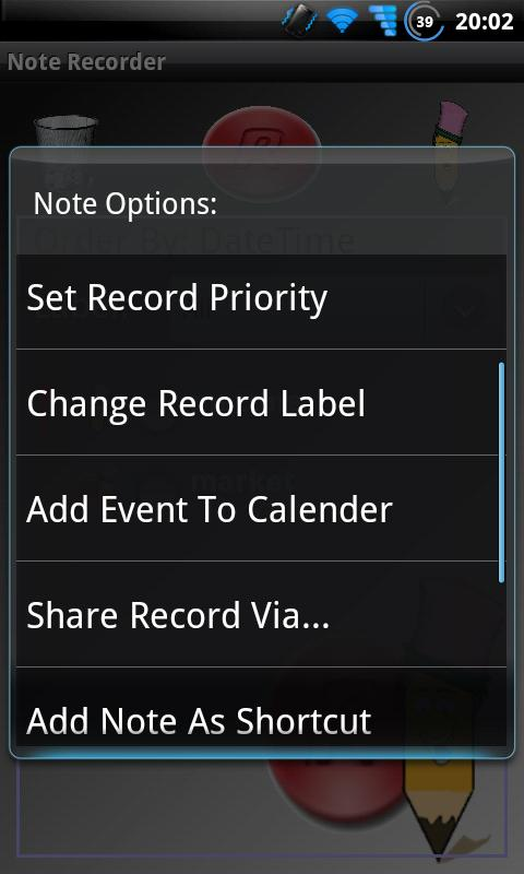 Note Recorder - screenshot
