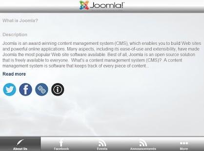 Joomla open source CMS