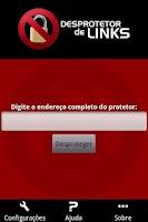 Screenshot of Desprotetor de Links Beta