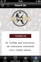 Screenshot of Coffee & Contracts
