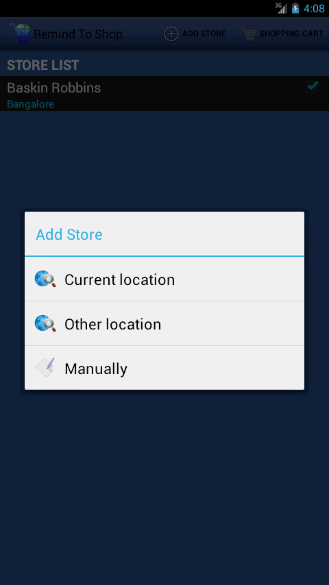 RemindToShop - screenshot