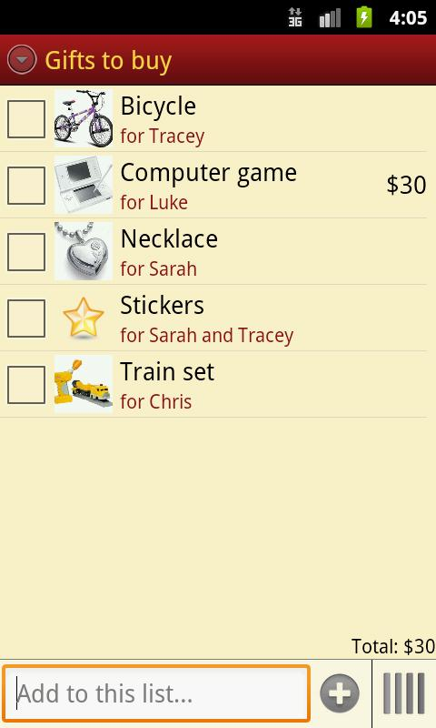 Gift Pony Christmas List - screenshot