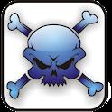 Skull Bones doo-dad blue logo