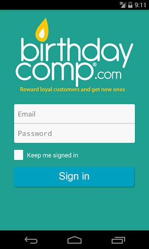 BirthdayComp.com Business App