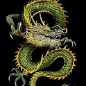 Green Eastern Dragon Chinese logo