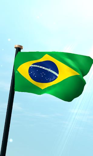 ブラジルフラグ3D無料ライブ壁紙