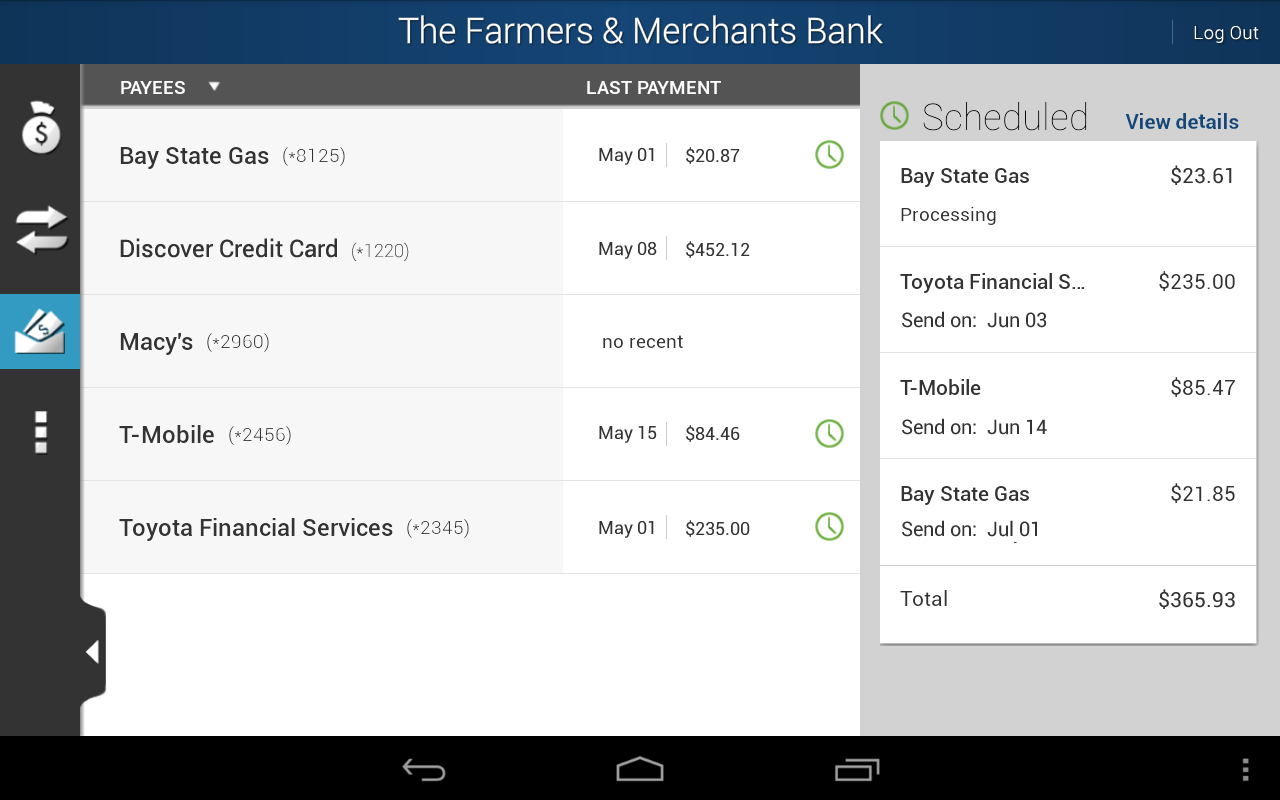The Farmers & Merchants Bank - screenshot