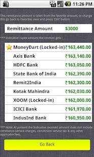 Indian Rupee Exchange Rates- screenshot thumbnail