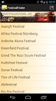 Screenshot of Festival Finder