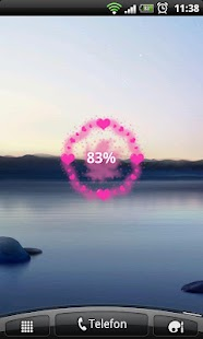 HD Heart Galaxy Battery Widget - screenshot thumbnail