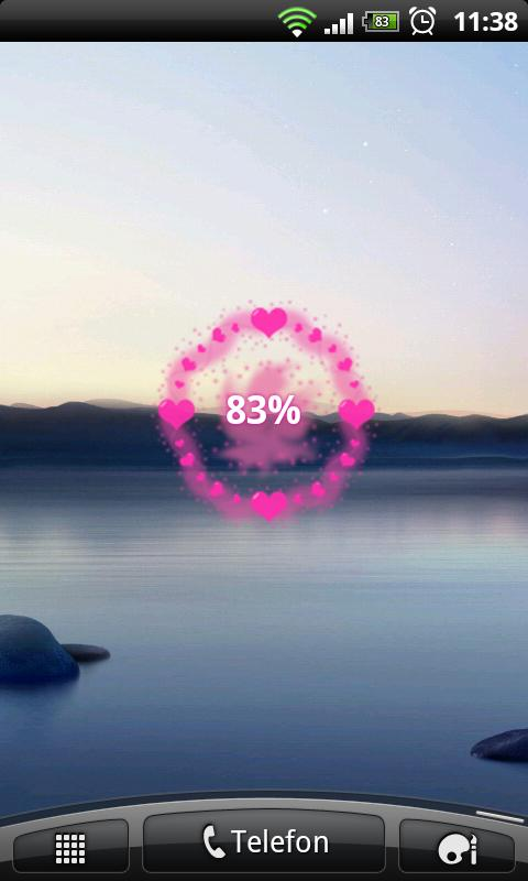 HD Heart Galaxy Battery Widget - screenshot
