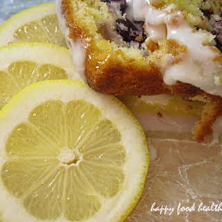 Glazed Lemon Blueberry Cake.