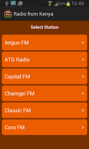 Radio from Kenya