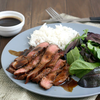Bourbon and Brown Sugar Marinated Flank Steak.