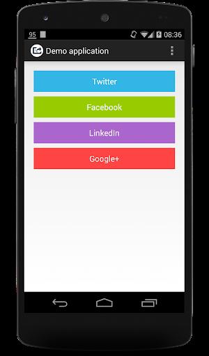SocialURLShare Demo app