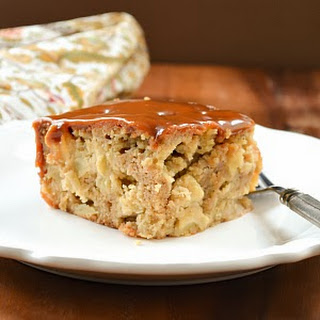 Caramel Apple Poke Cake.